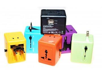 Cestovní adaptér JY-168 s duální USB nabíječkou