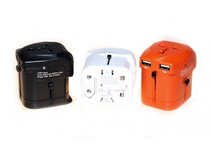Cestovní adaptér JY-162 s duální USB nabíječkou